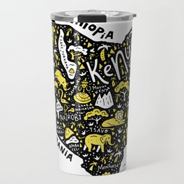 Map of Kenya Travel Mug