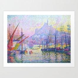 """Paul Signac """"Notre-Dame-de-la-Garde (La Bonne-Mère), Marseilles"""" Art Print"""
