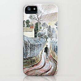 Ravilious, wet afternoon - Digital Remastered Edition iPhone Case