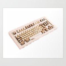 Computer keyboard Art Print