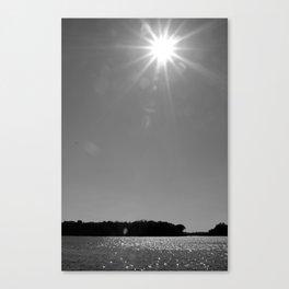 Lake Sunstar Canvas Print
