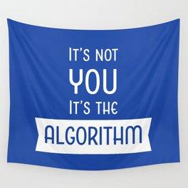 Social Media Algorithm Blues Wall Tapestry