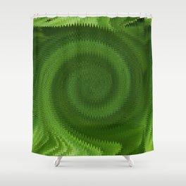Green Ripples Shower Curtain