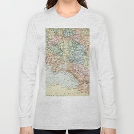 Vintage Map of Russia Long Sleeve T-shirt