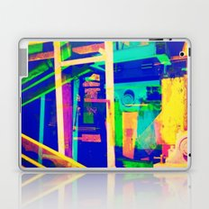 Industrial Abstract Blue Laptop & iPad Skin