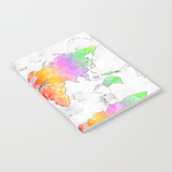 world map marble 2 Notebook