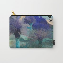 TheDesert blue -By Sherri Of Palm Springs Carry-All Pouch