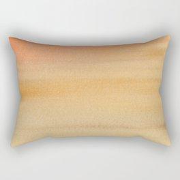 Warm Desert Sky Watercolor Wash Painting Rectangular Pillow