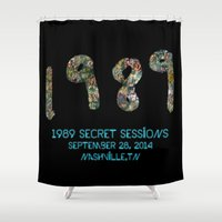 1989 Shower Curtains featuring 1989 Secret Sessions Anniversary by Alexander Studios