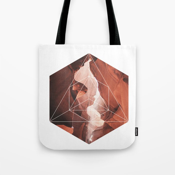 A Great Canyon - Geometric Photography Tote Bag