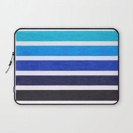 Colorful Blue Stripe Pattern Laptop Sleeve