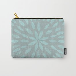 Mandala Flower #3 #mint #grey #drawing #decor #art #society6 Carry-All Pouch