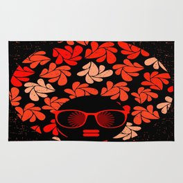 Afro Diva : Coral Red Rug