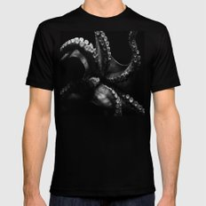 Octopus LARGE Mens Fitted Tee Black