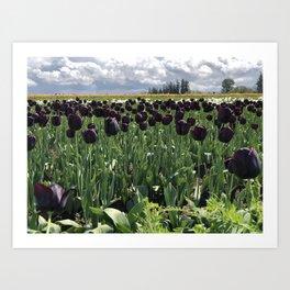 Goth Gardening Art Print