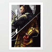 Dragon Age BlackWall Art Print