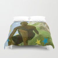renaissance Duvet Covers featuring Surfing Renaissance  by David Stone