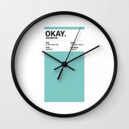 Okay. - Colour Card Wall Clock