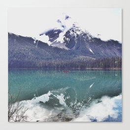 Morning Paddle on Emerald Lake, BC Canvas Print