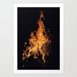 Flames Art Print