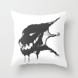 Aberrant Skull - Digital Demon (black) Throw Pillow