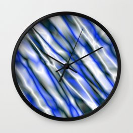 A bright cluster of blue bodies on a light background. Wall Clock