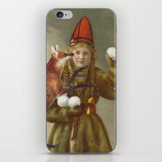 Red fox return iPhone & iPod Skin