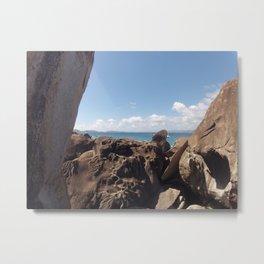 Baths, Virgin Gorda, Brittish Virgin Islands, Rock Formation Metal Print