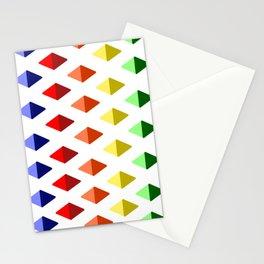Color Diamond Pattern Stationery Cards