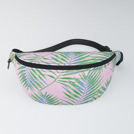 Fern Leaves Pink Fanny Pack