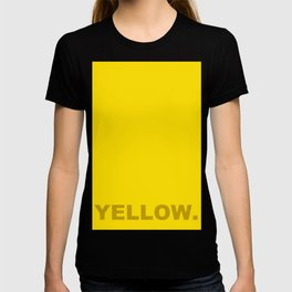 Yellow color less is more, happy summer design T-shirt