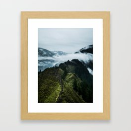Foggy mountains Framed Art Print