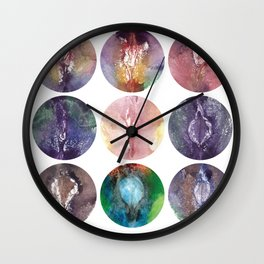Nine Vaginas, Verronica Kirei's Solar System Design Art Print Wall Clock