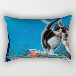 "Mosky Cat ""First love"" Rectangular Pillow"