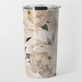 Peonies Pattern Travel Mug