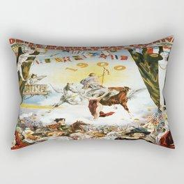 Vintage poster - Mobile Mardi Gras Rectangular Pillow