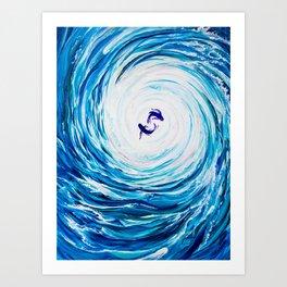 Piscean Sea Art Print