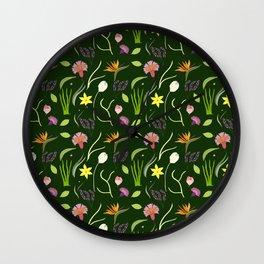 Nocturnal Spring Fantasy Wall Clock