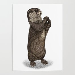 Infatuated Otter Poster