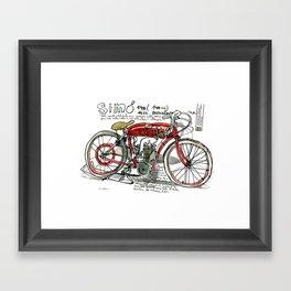 SIMÓ, 1924, Motorcycle (Catalonia) Framed Art Print