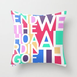 End the Hoarding of Wealth Throw Pillow
