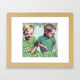 Babies Blue Framed Art Print
