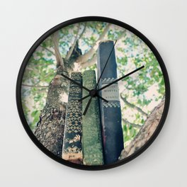 Books Out on a Limb Wall Clock