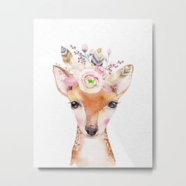 Forest Fawn by Nature Magick Metal Print