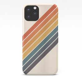Arida -  70s Summer Style Retro Stripes iPhone Case