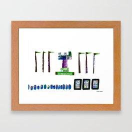 history, people, and vending machines, ii Framed Art Print
