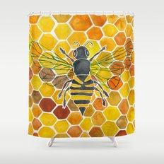 Bee & Honeycomb Shower Curtain
