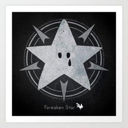 Crying star Art Print