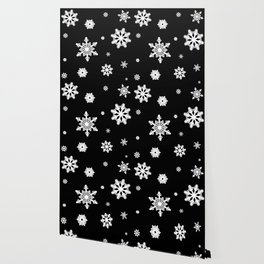 Snowflakes | Black & White Wallpaper