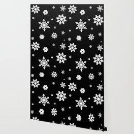 Snowflakes | Black & White Wallpaper